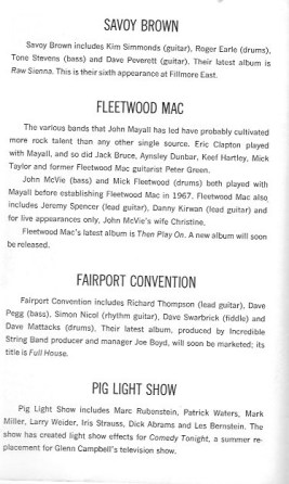 Savoy: Flletwood Aug 70 bio