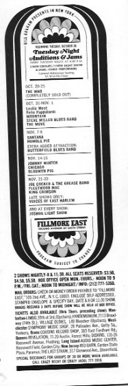 THE WHO sold out ad oct 69